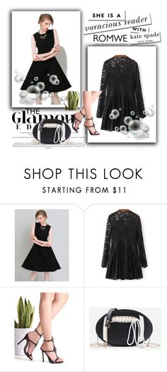 """""""Romwe 1"""" by amelaa-16 ❤ liked on Polyvore featuring Kate Spade and romwe"""
