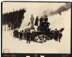 Rotary Snow Plough in Rogers Pass, 1895. (C) photo, Revelstoke Museum and Archives #TCH50 #BCHwy1 #BC