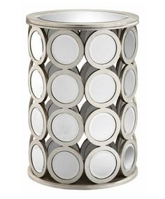 Another great find on #zulily! Silver Mirror Round Side Table #zulilyfinds
