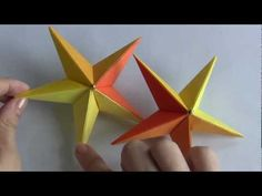 ESTRELA DO MAR DE ORIGAMI.  Excellent video instructions for this and many others