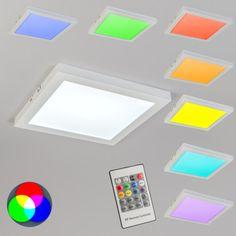 Ceiling Lamp Cuadrado RGB White