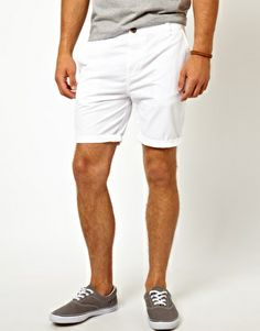White Chino Shorts, Mens Summer Style