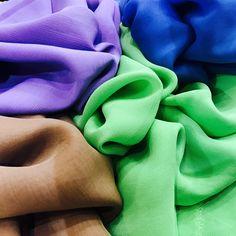 Mousseline de soie #tissu #fabric #soie #silk #mode #fashion #paris #sacrescoupons #handmade