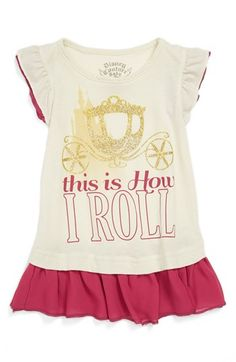 Mighty Fine 'This Is How I Roll' Tee (Toddler Girls) available at #Nordstrom