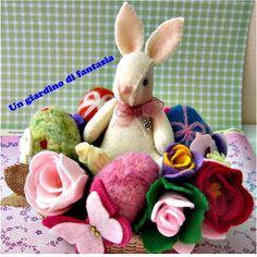felt bunny feltro conejo