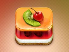 Yummy! Jelly Cake App Icon by Erfan Nuriyev on Dribbble #ios #ipad #iphone