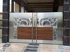 Screen house decor window 68 New Ideas Stainless Steel Gate, House Main Gates Design, Painted Front Doors, Front Gate Design, Screen House, Metal Door, Steel Door Design, Steel Gate Design, Steel Doors