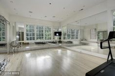 One of my dreams is to have a home dance studio/exercise room one day. This one is beautiful!