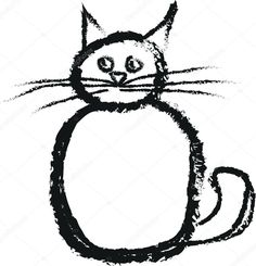 고양이 낙서