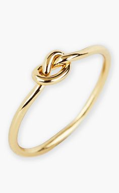 This gold mini knot ring is absolutely adorable. It's thin and delicate, but not flimsy. Wear it solo or stack it with other rings. Simple, elegant and perfect for everyday. Also comes in silver and rosegold.