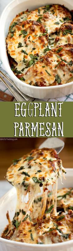 Our all-time FAVORITE way to make eggplant parm! You will want to make it this way forever! Best Eggplant Parmesan Recipe, Parmesan Recipes, Eggplant Recipes, Vegetarian Recipes, Cooking Recipes, Healthy Recipes, Vegan Meals, Veggie Recipes, Vegan Food