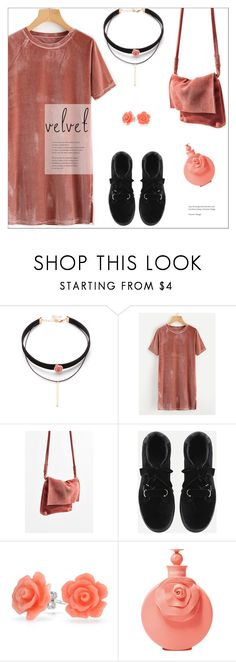 """""""Velvet"""" by meyli-meyli ❤ liked on Polyvore featuring Urban Outfitters, Bling Jewelry, John Lewis and velvet"""
