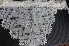 Knit lace wedding shawl, off white / cream. Baby alpaca and mulberry silk lace shawl, wrap. Hand knit, handmade