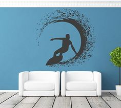 ik1116 Wall Decal Sticker surf board wave ocean Hawaii living room bedroom StickersForLife http://www.amazon.com/dp/B00VOYDAB2/ref=cm_sw_r_pi_dp_CWLivb0NGFJ0D