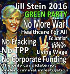 Stein nor Clinton have my vote yet, but I will not be shamed, bullied, or silenced into voting one way or another. If that happens what is the point? Stop telling voters that their choice is a waste. It's fear tactics and manipulation. It has no place in a democracy. (not to mention they may stay home in nov and take all their downstream dem votes with them-see what I did there?)