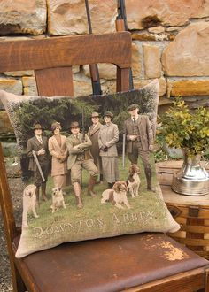Downton Cast Hunting Party Pillow Cover | Heritage Lace