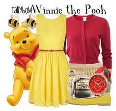 """Winnie the Pooh"" by tallybow ❤ liked on Polyvore featuring Chanel, Oscar de la Renta, Yumi, Olivia Pratt, women's clothing, women, female, woman, misses and juniors"