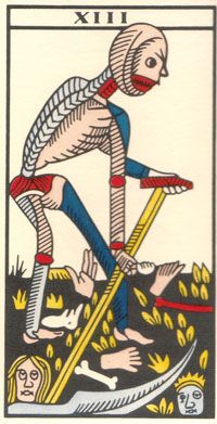 Tarot de Jean Dodal, Le Treize, restauration par JC Flornoy