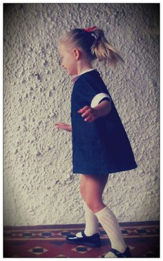 1960's inspired dress with peter pan collar