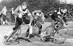 Born in the bombsites of post-war Britain, Cycle Speedway is now an established sport attracting enthusiastic competitors and spectators Vintage Cycles, Vintage Bikes, Bike Photography, Classic Image, Bicycle Race, Old Bikes, Fun Hobbies, Save The Planet, Tricycle