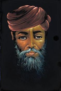 Rajasthani Man (Painting on Velvet Cloth - Unframed)