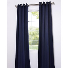 Eclipse Blue Thermal Blackout 108-inch Curtain Panel Pair