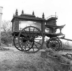 Horse drawn hearse. British.