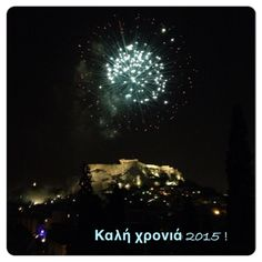 Happy New Year 2015!  #acropolis #akropoli #athens #athina #greece #newyears #fireworks