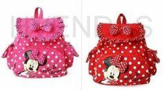 mochila infantil de tecido da Minnie
