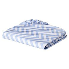 Circo Chevron Fitted Crib Sheet only $9.99 .....I want in Green & Gray