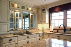 Love the cabinets and counter top.