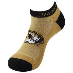 Youth Missouri Tigers Spirit No-Show Socks, Kids Unisex, Size: 7-9, Black