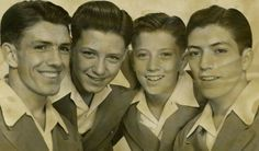 The Williams Brothers {Andy, fr. Andy Williams, Classic Movie Stars, Celebs, Celebrities, Actors, Brother, Childhood, Children, Moon River