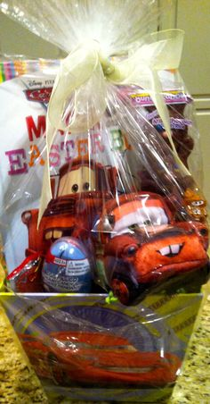 Cars themed easter basket basketcasebaskets by angela making gio a cars easter basket just bought this basket from target for 600 negle Gallery