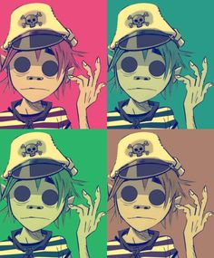have't heard much of gorillaz.  the art style is so unique and great but the music videos and animation scares me a little hahA im such a loser