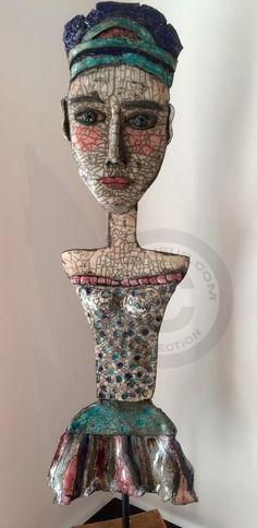 Maya - Sculpture,  100 cm ©2015 par Mary Larsson -                                                        Art figuratif, Céramique, Personnes