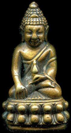 พระกริ่งปวเรศ เนื้อทองผสม ก้นทองแดง ฐาน จปร. ปี 2416 - บ้านพระสมเด็จ