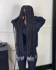 Box Braids Hairstyles For Black Women, Braids Hairstyles Pictures, Cute Braided Hairstyles, Black Girl Braids, African Braids Hairstyles, Braids For Black Hair, Weave Hairstyles, Hairstyles Videos, Black Hair Braid Hairstyles