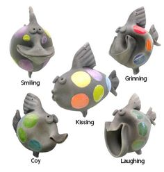 Pottery Fish : Happy Raku Fish You are in the right place about Polymer Clay Crafts fantasy Here we offer you the most beautiful pictures about the Polymer Clay Crafts for home you are looking for. Pottery Animals, Ceramic Animals, Clay Crafts For Kids, Clay Fish, Pottery Techniques, Cute Clay, Great Gifts For Men, Pinch Pots, Polymer Clay Crafts