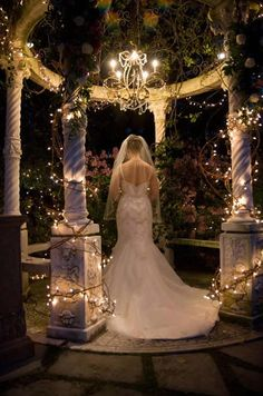 The Atrium - Gazebo Wedding - Norcross, GA; This is so pretty, I'm thinking evening wedding now.