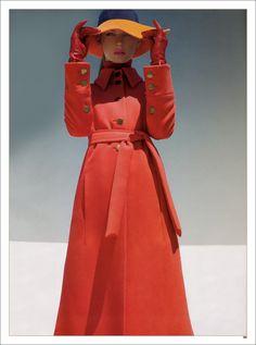 orange and red: from 2007 Harper's Bazaar