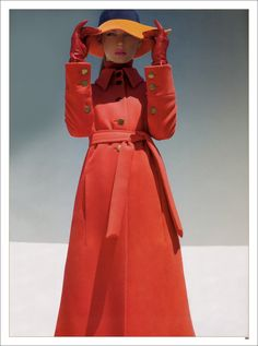 orange and red: from 2007 Harper's Bazaar