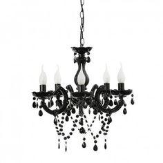 Etienne 5 Light Chandelier Black - Chandeliers - Lighting & Fans