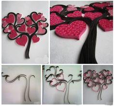 quillingový strom