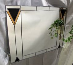 Art Deco Mirror Over Mantel Mackintosh Stained Glass style Large mirror Mirror Store, Mirror Brackets, Stained Glass Mirror, Mantel Mirrors, Art Deco Mirror, Charles Rennie Mackintosh, Mirrors Online, Art Deco Period, Etsy