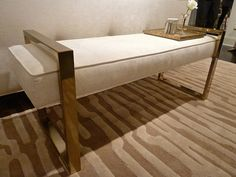 Jet Set bench at Bernardt Furniture. High Point Market Spring 2014 Finds Design Connection, Inc.