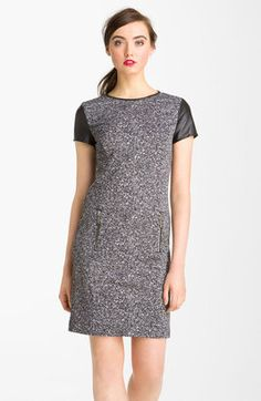 Michael by Michael Kors - Leather Trim Ponte Dress - $225.00 - Click on the image to shop now