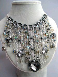 Silver and Gray Necklace #tutorial #craft
