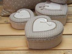 Krabička srdce s mašličkou - sada 2 ks