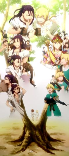 Magi: The labyrinth of magic. Kassim & Alibaba, a friendship that lives forever!!